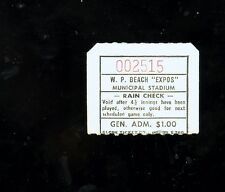 *1970's West Palm Beach Expos minor league baseball ticket stub