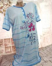 Damen Kurzarm NACHTHEMD Nachtwäsche Schlafshirt Pyjama Blumenmuster XXLARGE