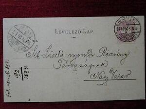 HUNGARY - BUDAPEST TO ROMANIA - ORADEA / ADVERTISING STATIONERY CARD / 1894