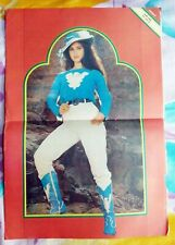 Rare Vintage Bollywood Meenakshi Sheshadri Pinup Page Poster Home Decor 82
