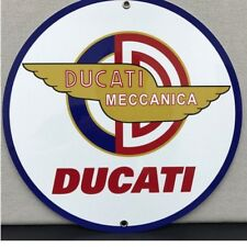 Italian Ducati Motorcycle RacingVintage Logo Reproduction Garage Sign