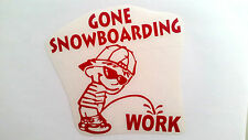 GONE SNOWBOARDING board DECAL STICKER boots helmet bindings bag burton goggles