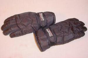 BLACK THINSULATE THERMAL INSULATED GLOVES MEDIUM SIZE 8 NON SLIP PALM