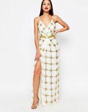 Virgos Lounge Natasha Maxi Dress With Split SIZE UK6 EUR34 US2