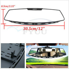 "ABS Plastic+Glass 12"" Wide Angle Curve Convex Rearview Mirror Clip On Universal"