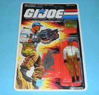 *RECARDED* 1988 GI Joe Hardball v1 Figure Complete Sealed *CUSTOM File Card Back
