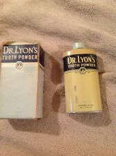"""DR LYONS TOOTH POWDER IN BOX HAS CONTENTS 5"""" tall 1920's"""