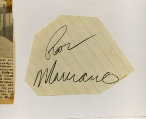 ROCKY MARCIANO ORIGINAL AUTOGRAPH FROM MARCH 24, 1958-SIGNED IN PENCIL--(D-1969)