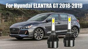 LED For ELANTRA GT 2018-2019 Headlight Kit H7 6000K White CREE Bulbs Low Beam