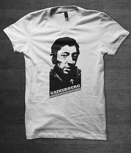Serge Gainsbourg T shirt french music 60's brigitte bardot anna karina