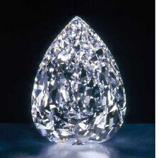 12.00 Ct Huge  Loose White  Pear sapphire 10x14mm Beast Offer Ebay Gemstone 3d