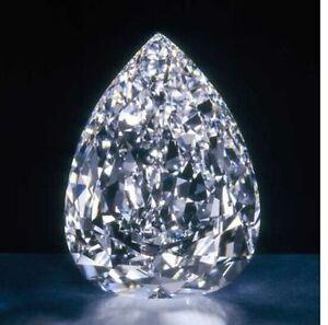 10.00 Ct Huge  Loose White  Pear sapphire 7x9mm Beast Offer Ebay Gemstone
