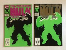 Incredible Hulk #377 LOT 2-ISSUES Green / Black Covers PETER DAVID Autograph!!