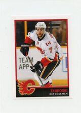 17/18 PANINI NHL STICKER #268 TJ BRODIE FLAMES *40603