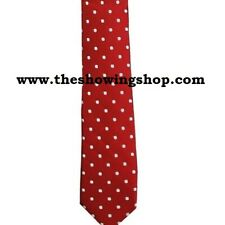 Equestrian riding competition silk polyester show tie adults red Sport