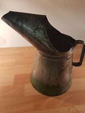 Vintage Oil Pouring jug tin garage accessory oily rag restoration shop display