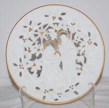"Lenox The Holy Family 9"" Fine Pierced Porcelain 24 Karat Gold Trim Plate"