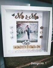 PERSONALISED WEDDING Gift 3D Box Frame, Home Decor, Birthday,Anniversary