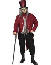 Freak Show Zombie Ringmaster Adult Halloween Costume-Plus Size
