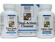 Cellular Research Formulas -Dual-Action Cleanse 60 Tabs Body Purifier 90 Tabs
