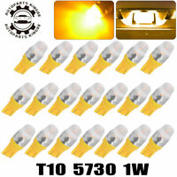 20x High Power T10 5730 LED Amber Yellow Interior Light Bulbs 161 168 192 194