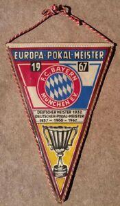 BAYERN Munich 1967 European Cup Winners PENNANT WIMPEL