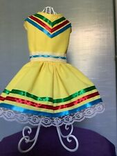 Folkloric Mexican  yellow dog dress
