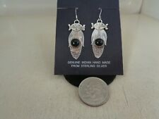Super Corn Maiden Ear Rings With Black Onyx Stone .925 Sterling Silver