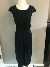NWT Bluemarine Size 6 Black Sheath Dress.