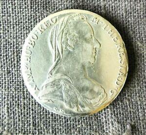 Maria Theresa Thaler BURG CO TYR 1780 X Archid Avst Dux Silver Coin
