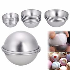 16pcs 8 Set DIY Mold Half Sphere Metal Bath Bomb Fizzy Craft Cake Candle Mould