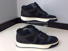 Lanvin Mens Hi Top Sneakers, Uk 6 Eu40, Runners, Blue, Leather