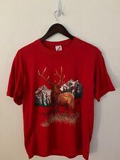 Vintage Buck Deer 80's Mens Large T Shirt Wildlife