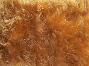 Wolf Brown Teddy Bear Fur Fabric - Half Metre (50cm x 150cm)
