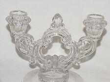 PERFECT Vintage Crystal CAMBRIDGE Double Keyhole Candlestick!!