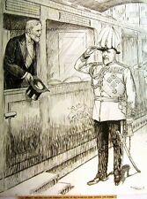 Ilustraciones Royalty KEVII el gráfico el rey y el Presidente Loubet france1903
