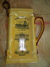 "Washington DC Mug  Shaped collectible ceramic ashtray. 7"" long"