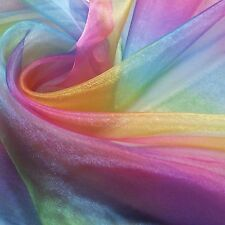 Rainbow Organza (Voile) Fabric *Per Metre