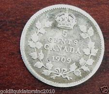 CANADA - SILVER 5 CENT 1909