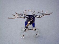 GOLDEN Blu eagle@unique glass@austrian crystal@murano gift@22 KT GOLD bird@prey