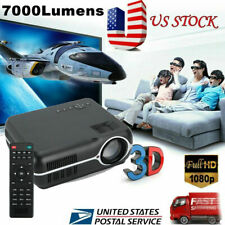 Portable Android HD 1080P 3D Multimedia Projector LED Home Theater HD*2 USB*2 US