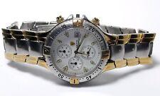 Vintage mens Croton Chronomaster chronograph quartz watch for repair #60DOK