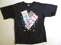 Vtg 1992 World Series Men's T-Shirt Atlanta Braves Blue Jays Ticket USA Tee XL