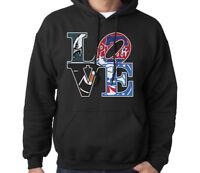 LOVE Philadelphia Philly Sport Fan Combined Logo Mashup Men's Sweatshirt Hoodie