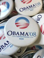 SET 3 Pins - 2008 Barack Obama Official Presidential Campaign New