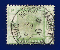 1884 SG194 6d Dull Green K24 LP Horse Market Darlington Good Used Cat £240 cuhc