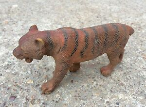 1960s Vintage Tiger Figure Rubber Statue Vintage Toy Wild Animal Collectible
