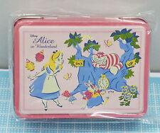 Japan Disney Store Alice In Wonderland Mini Tin Case With Clip    , #6ok