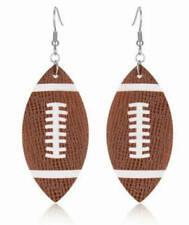 Leather Football Earrings for Women Jewelry - Sports - fish hook earrings -