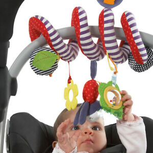 Soft Hanging Bell Rattle Activity Stroller Bed Crib Around Spiral Baby Toys Gift